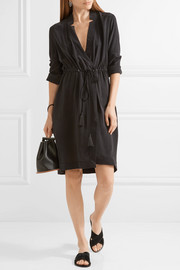 Equipment Stacy washed-silk wrap dress