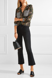 Equipment Ansley printed silk-georgette shirt