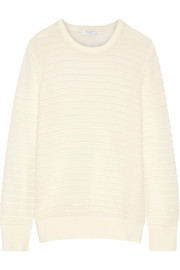 Rei ribbed cotton and silk-blend sweater
