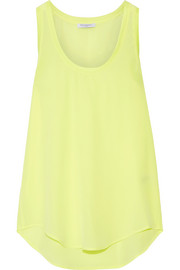 Equipment Mel neon washed-silk tank