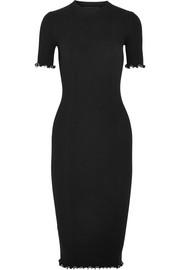 Alexander Wang Studded ribbed cotton-blend dress