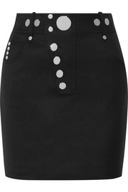 Alexander Wang Studded wool-blend mini skirt