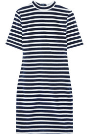 T by Alexander Wang Striped cotton-blend terry mini dress