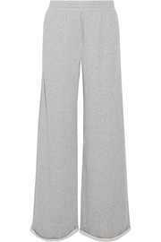 T by Alexander Wang Cotton-blend jersey wide-leg pants