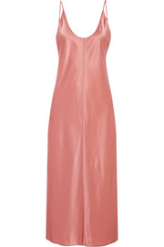 T by Alexander Wang Embroidered silk-satin dress