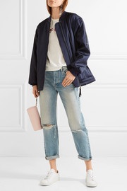 T by Alexander Wang Oversized satin bomber jacket