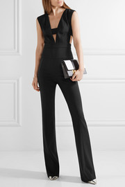 Narciso Rodriguez Cutout wool-crepe jumpsuit
