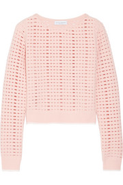 Cutout wool and cashmere-blend sweater
