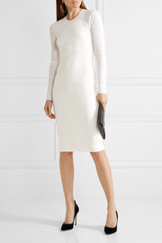 Narciso Rodriguez Ribbed-paneled stretch-knit dress