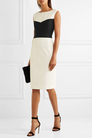 Narciso Rodriguez Two-tone stretch-silk ponte dress