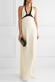 Narciso Rodriguez Sequin-embellished stretch silk-blend crepe gown