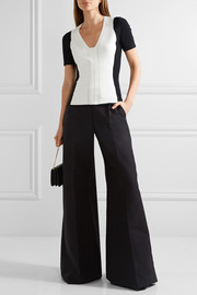 Narciso Rodriguez Two-tone stretch-knit top