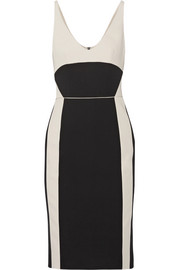 Narciso Rodriguez Two-tone wool-gabardine dress