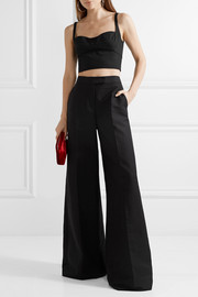 Narciso Rodriguez Cropped wool-gabardine top