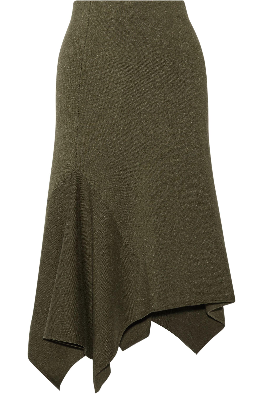 Jason Wu Collection Asymmetric stretch wool-blend skirt