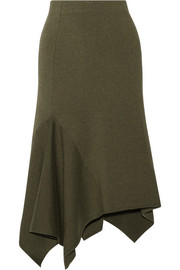 Jason Wu Asymmetric stretch wool-blend skirt