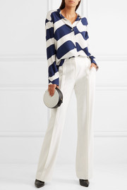 Jason Wu Pleated crepe flared pants