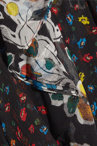 Jason Wu Gerüschter Midirock aus Seidenchiffon mit floralem Print