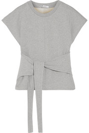 T by Alexander Wang Tie-front cotton-jersey top