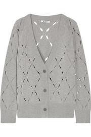 T by Alexander Wang Pointelle-knit cotton and modal-blend cardigan