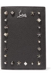 Christian Louboutin Loubipass embellished textured-leather passport cover