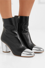 Proenza Schouler Metallic-trimmed leather ankle boots