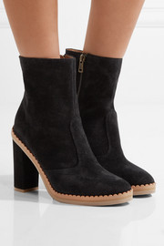See by Chloé Scalloped suede ankle boots