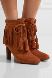 See by Chloé Fringed suede ankle boots