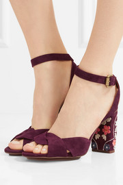 See by Chloé Embroidered suede sandals