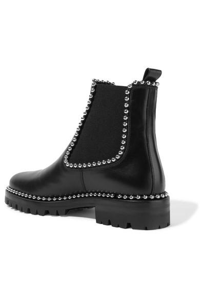 alexander wang spencer studded leather chelsea boots net a porter com. Black Bedroom Furniture Sets. Home Design Ideas