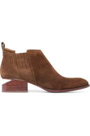 Alexander Wang Kori cutout suede ankle boots