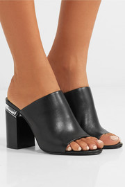 Avery leather mules
