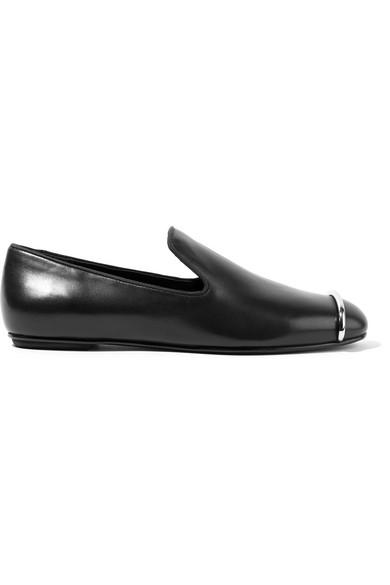 Alexander Wang - Kalli Embellished Leather Loafers - Black