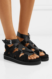 Natalie suede and canvas sandals
