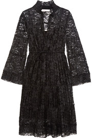 See by Chloé Plissé-lace dress