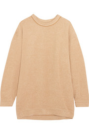 See by Chloé Oversized cotton-blend fleece sweatshirt