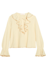 See by Chloé Ruffled crepe blouse