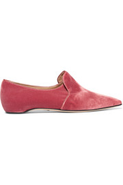 Paul Andrew Maude velvet loafers