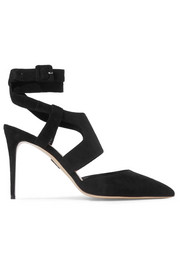 Paul Andrew Durini cutout suede pumps