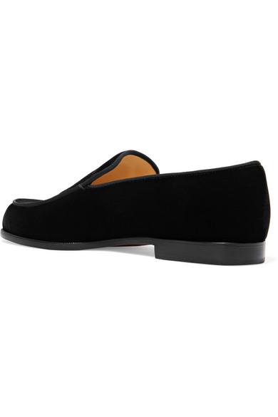 Schlussverkauf Christian Louboutin Perou Corazon Loafers aus Samt mit Applikation Viele Arten Von Online-Verkauf DtyTU