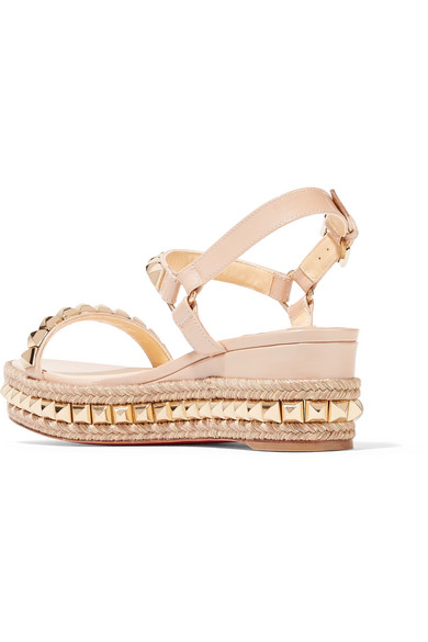 1bdbca634fd Cataclou 60 embellished patent-leather wedge espadrille sandals