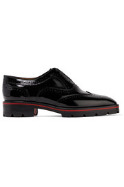 Christian Louboutin Charletta patent-leather brogues