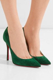 Christian Louboutin Decoltish 100 suede pumps