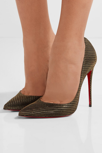ac48a477b07 Christian Louboutin So Kate Glitter Chain 120Mm Red Sole Pumps ...