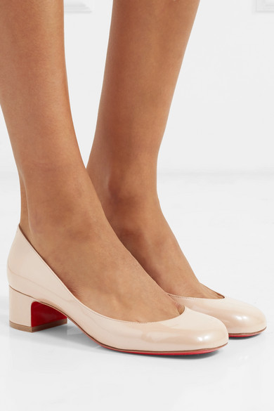 finest selection 0e69a 433aa Christian Louboutin | Cadrilla 40 patent-leather pumps | NET ...