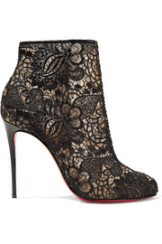 Christian Louboutin Miss Tennis 100 guipure lace ankle boots