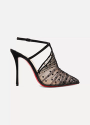 Christian Louboutin Acide Lace 100 flocked tulle pumps