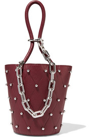 Alexander Wang Roxy mini studded textured-leather bucket bag
