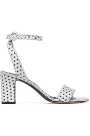 Leticia polka-dot twill sandals