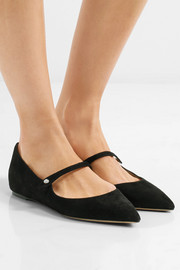Hermione suede point-toe flats